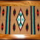 Southwestern Decor Log Cabin Rug Tan-Teal-White