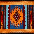 SouthWestern Log Home Decor Wool Rug Blue-Yellow-Turquoise