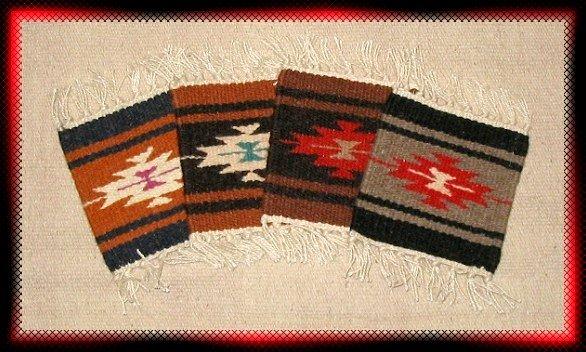 Navajo Design Wool Coasters - #1