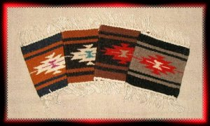 Navajo Design Wool Coasters - #1