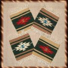 Navajo Design Wool Coasters - #2