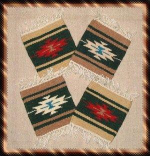 Navajo Design Wool Coasters - #2