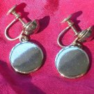 "LISNER ""TAB"" SCREW ON EARRINGS! DESIGNER SIGNED! REDUCED $5.00!"