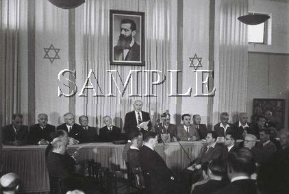 Israeli prime minister David Ben Gurion reading the declaration wonderful photo still #6