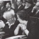 Israeli prime minister David Ben Gurion with mrs.Golda Meir at the knesset wonderful photo still #19