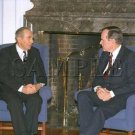 Israel & U.S president Chaim Herzog with U.S. President George Bush wonderful photo still #13