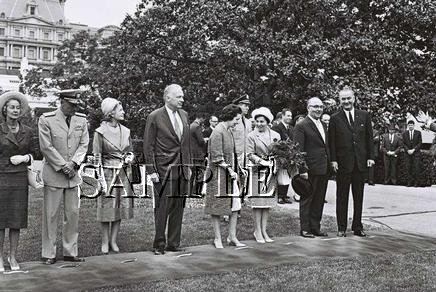 Israel prime minister Levy Eshkol & U.S. President johnson wonderful photo still #23