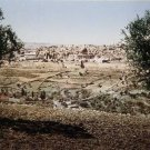 Panoramic color photo from late 19th century of the old city of jerusalem in palestine #8