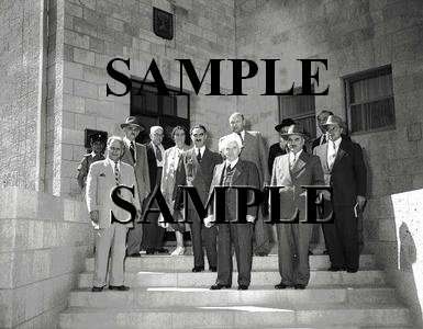 Israel prime minister david ben gurion with new cabinet member 1951 wonderful photograph #23