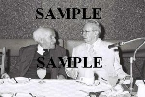 Israel president Ben Zvi with david ben gurion at the lod airport wonderful photograph #26