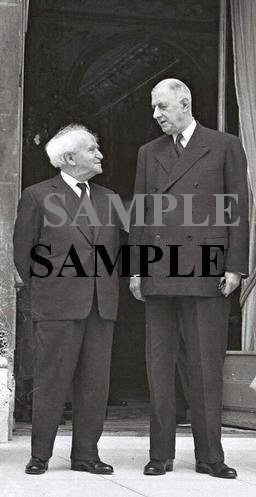 david ben gurion his first meeting with general charles de gaulle president of france photograph #35
