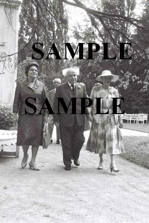 The belgium queen mother Elizabeth receives the israel prime minister david ben gurion photo #39