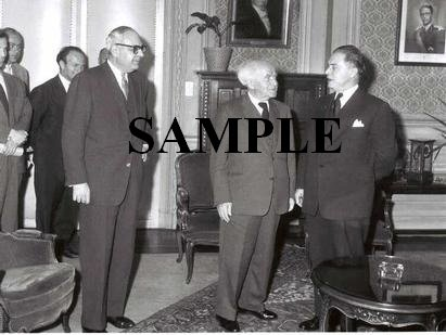David ben gurion calls on mr.Gaston eyskens prime minister of belgium photo #41