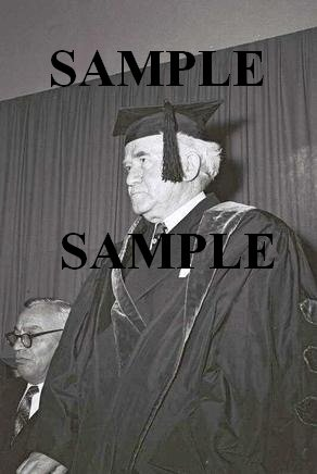 David ben gurion in cap and gown at conferment on him of honorary doctorate photo #44