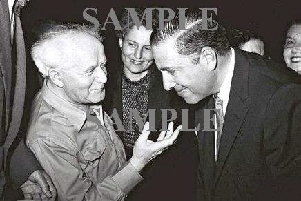 Author writer Herman Wouk with David ben gurion in tel aviv photo #46
