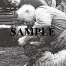 prime minister David ben gurion examining the teeth of a sheep mrs Paula ben gurion look photo #48