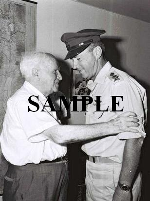 David ben gurion receiving the chief of staff Yitzhak Rabin who came to congratulate him photo #55