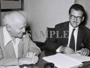 Baron de Rothschild with david ben gurion wonderful photograph #57