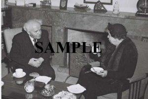 MRS.Eleanor Rosevelt having tea with David ben gurion at his office in tel aviv photo #60