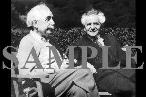 Albert Einstein with David ben gurion meeting in the united states wonderful photograph #3