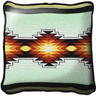 """~Set of 2~ 17"""" SEVAH Green Western Southwest Design Tapestry Cushion Pillows"""