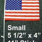 Polyester American Flags 4 inches by 5.5 inches wholesale