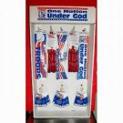 Patriotic Display (500 Pieces) with Bumper Stickers, Lapel Pins and Bracelets