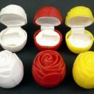 Plastic White Rose Jewelry Boxes (wholesale lot of 300)