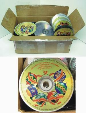 Imprinted Christmas Song CD wholesale lot of 400 cd's