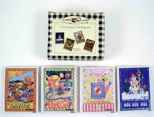 Four Seasons Tile Magnets (4 Assorted) (wholesale case of 96)