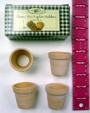Ceramic Set of 4 Flower Pot Napkin Holders (wholesale case of 144)