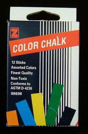 Assorted Color Chalk (wholesale case of 288 packs)