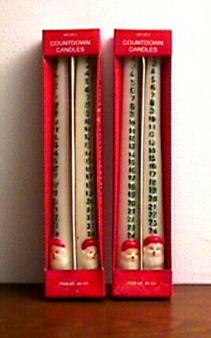 Countdowm candles for Christmas WHOLESALE case of 100