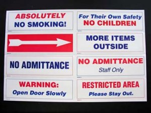 MIXED SIGNS - wholesale (perfect for auctions) (200 signs)