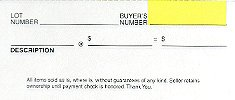 CLERK SHEETS for auctions (forms) (wholesale 3 packs!)