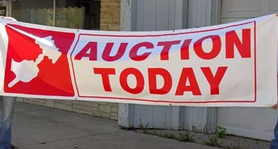 "3 X 10 ""Auction Today"" Banner"