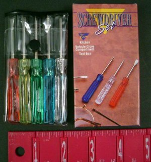 Wholesale - 5 Pc Mini Screw Driver Set (case of 72)