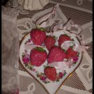 Shabby Victorian Glitter Strawberries Midwest Cannon FallS ORGANZA BAG