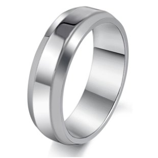 Mens Simple Classic Bridal Wedding Engagement Band Stainless Steel Ring