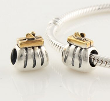 925 Sterling Silver Clutch Purse Charm - fits European Beads Bracelets