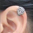 925 Sterling Silver Gorgeous Lion Head Cartilage Ear Cuff Wrap Clip On Earring
