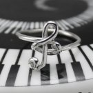 925 Sterling Silver Treble Clef Stacking Ring Band