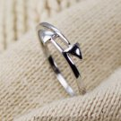 925 Sterling Silver Double Arrow Ring Stacking Band