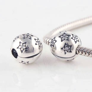 925 Sterling Silver Twinkle Twinkle Star Clip Charm - fits European Beads Bracelets