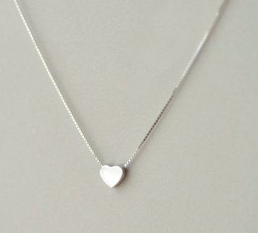 925 Sterling Silver Small Tiny Heart Necklace - Birthday/Christmas/Bridesmaid Gift