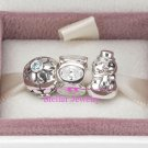 Sterling Silver WINTER WONDERLAND Christmas Charms Gift Set - fits European Beads Bracelets