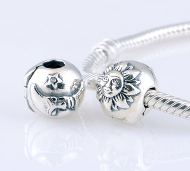 925 Sterling Silver Night & Day Magic Sky Clip Bead - fits European Beads Bracelets
