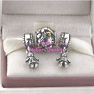 925 Sterling Silver HAPPY FAMILIES Charm Beads Gift Set - fits European Beads Bracelets