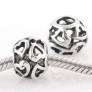925 Sterling Silver Ball of Hearts Charm - fits European Beads Bracelets