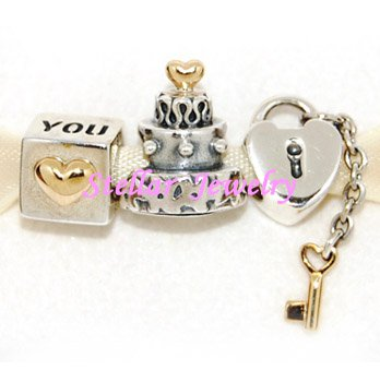 925 Sterling Silver ANNIVERSARY Charms Gift Set - fits European Beads Bracelets